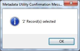 Metadata Utility – Messages - Add Movie - Confirmation