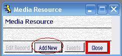 Metadata Utility – Media Resource - Add New
