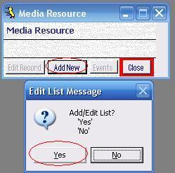 Metadata Utility – Media Resource – Messages - Edit List