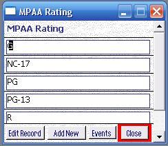 Metadata Utility – MPAA Rating