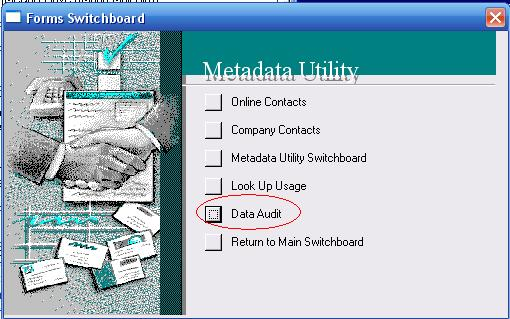 Metadata Utility – Forms Switchboard