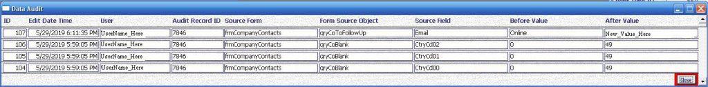 Metadata Utility – Data Audit