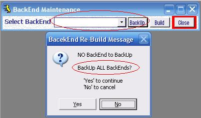 Metadata Utility – Messages - BackEnd BackUp Rebuild - All
