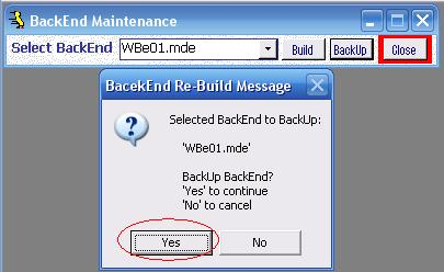 Metadata Utility – Messages - BackEnd BackUp Rebuild