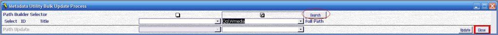 Metadata Utility – Switchboard - Bulk Update Process