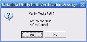 Metadata Utility - Mesages – Resource Verification