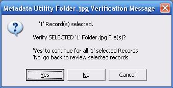 Metadata Utility – Messages - Folder.jpg Verification - Seleceted