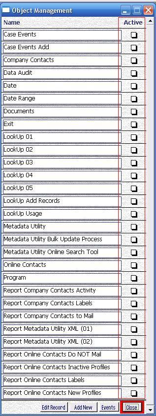 Metadata Utility – Maintenance Switchboard - LookUp Maintenance Switchboard - Object Management