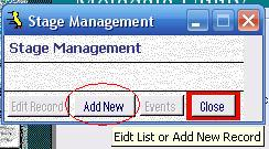 Metadata Utility – Stage Management - Add New