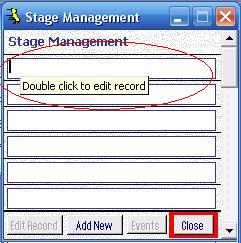 Metadata Utility – Stage Management - Edit