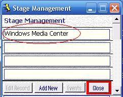 Metadata Utility – Stage Management - Update