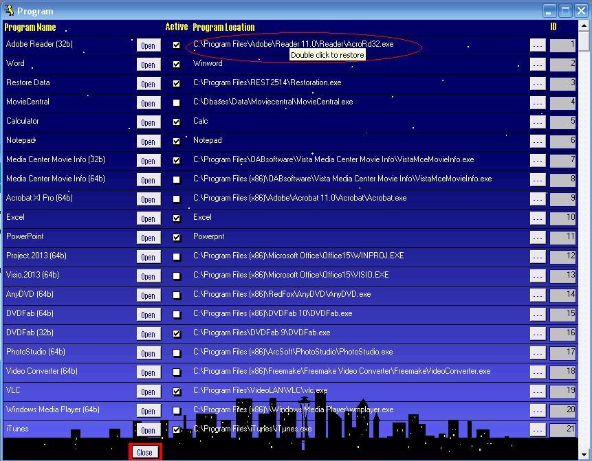 Metadata Utility – Program - Edit Mode