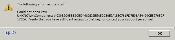 Microsoft Office - Error - Registry - Unkknown