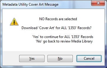 Metadata Utility – Message - Cover Art Download
