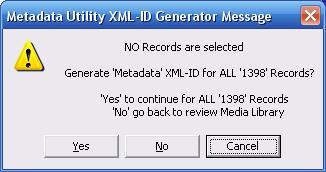 Metadata Utility – Message – XML-ID Generate