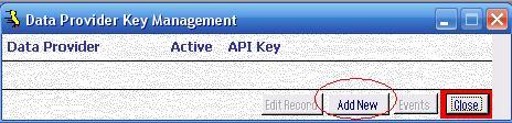Metadata Utility – Switchboard - Data Provider API Key Management