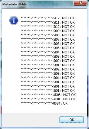 Metadata Utility – Messages License Verification